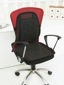 坐墊辦公室久坐夏季腰枕靠枕木珠腰靠椅墊靠背墊涼席汽車座墊靠墊 【雙十二免運】