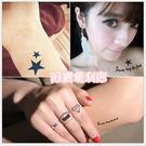 刺青貼紙 5款 星星 字母 皇冠 愛心 玫瑰 style 日本 彩繪 可愛 黑白 8028