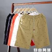 短褲男夏季休閒五分褲男生韓版潮流男士修身中褲5分馬褲沙灘褲 自由角落