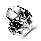 鈦鋼戒指 頭盔-另類個性龐克復古生日情人節禮物男飾品73le234[時尚巴黎]