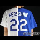 MLB大聯盟 短袖號碼T 道奇隊 KERSHAW 22號 白/藍 # 6030227. 6030228 ☆SP☆