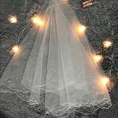 2019新款結婚紗照拍照新娘頭紗韓式珍珠頭紗 全館免運