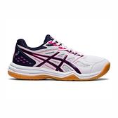 Asics Upcourt 4 Gs [1074A027-102] 大童鞋 排球鞋 緩衝 穩定 止滑 亞瑟士 白 桃紅