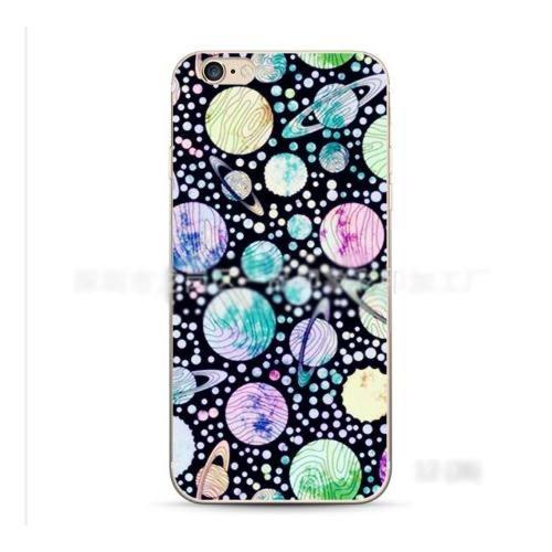 蘋果 iPhone 7/8 i7 硬殼 創意 日韓 撞色 個性 手機殼 保護套 歐美 星空 新款 彩繪 潮流