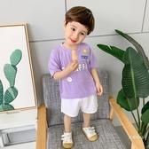 兒童T恤 兒童短袖T恤夏裝兒童裝寶寶1歲小童潮男童半袖洋氣薄打底衫【快速出貨】