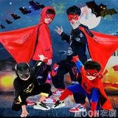 萬圣節兒童服裝男童蜘蛛俠衣服幼兒園錶演服秋季蝙蝠俠cos演出服 moon衣櫥