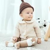 寶寶護膝襪子嬰兒純棉加厚毛圈過膝中高筒兒童爬行襪防滑加長襪套 阿卡娜