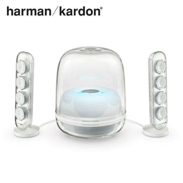 【公司貨】Harman Kardon 藍牙2.1聲道多媒體水母喇叭 SOUNDSTICKS 4 -白色
