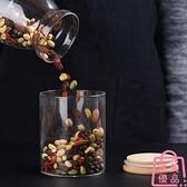 透明玻璃密封罐廚房玻璃瓶家用雜糧罐子玻璃罐【匯美優品】