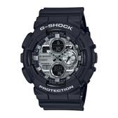 CASIO卡西歐 G-SHOCK 人氣雙顯 黑金手錶 GA-140GM-1A1 禮物/51.2mm