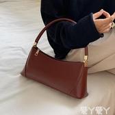 手提包復古法國小眾包包女新款潮韓版百搭側背包網紅質感時尚手提包聖誕交換禮物