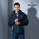 Emilio Valentino范倫鐵諾輕量防風透氣薄外套 (丈青)