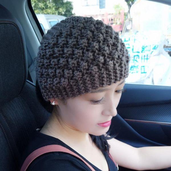 秋冬新款手工針織保暖護耳毛線帽髮飾頭套      SQ8592『寶貝兒童裝』
