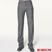 BOBSON 男款人字斜紋伸縮直筒褲1740 85