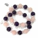 『晶鑽水晶』天然紫水晶+粉水晶+白水晶手...
