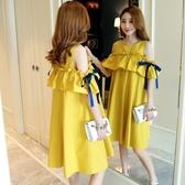孕婦夏裝洋裝新款時尚韓版哺乳孕婦短袖上衣孕婦裝夏天裙子 青山市集