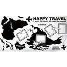 【收藏天地】創意生活*相框式裝飾壁貼-世界地圖