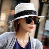 禮帽蕾絲邊太陽帽 時尚夏季防曬帽m168