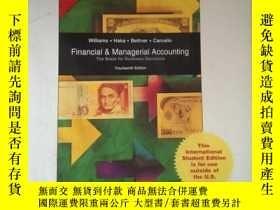 二手書博民逛書店Financial罕見& Managerial AccountingY16149