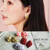 耳環Space Picnic | 方形格紋 耳環 ~C19032011 ~
