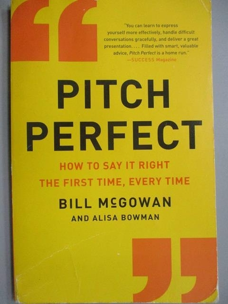 【書寶二手書T5/藝術_MDW】Pitch Perfect_Bill McGowan