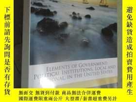 二手書博民逛書店Elements罕見of government; politic