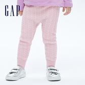 Gap嬰兒 甜美純棉針織內搭褲 702284-粉色