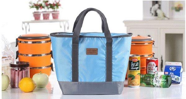 ♚MY COLOR♚牛津布手提保溫袋 保冷包 冰袋 便當袋 副食品 野餐袋 餐盒 外出袋 保溫袋【T10】