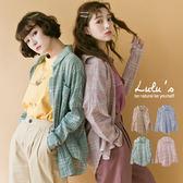 LULUS-C黑線格紋單口袋襯衫-4色  現+預【01032082】