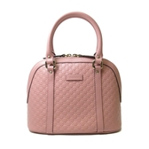 GUCCI 古馳 粉紅色牛皮GG Logo手提肩背兩用包 2way Bag 【二手名牌 BRAND OFF】