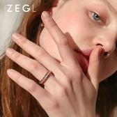 戒指 食指戒指女ins潮冷淡風簡約氣質指環時尚個性情侶飾品 莎拉嘿呦