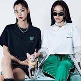 T恤 鐳射印花質感短袖T恤UF0132-創翊韓都