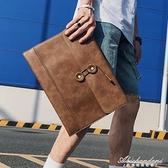 新款時尚韓版男包 信封包手包 復古文件包商務休閒男包手拿公文包 黛尼時尚精品