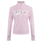 Nike AS W Swoosh Run HZ Midlayer 女 粉 訓練 運動 慢跑 長袖 CZ9234-663