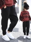 女童冬裝褲子加絨加厚新款秋冬洋氣兒童加絨褲寶寶女孩外穿哈倫褲 童趣屋