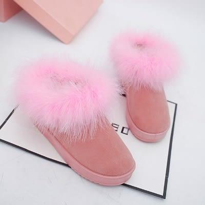 低筒雪靴-時尚簡約保暖百搭女厚底靴子4色73kg64[巴黎精品]