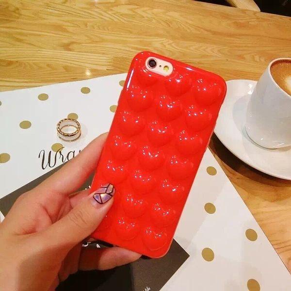 iPhone手機殼 送掛繩 氣囊愛心 矽膠軟殼全包 蘋果iPhone7/iPhone6手機殼