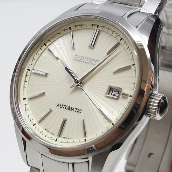 【萬年鐘錶】SEIKO Mechanical 精工23石 都會 機械 男錶  淡黃錶面 銀殼 不鏽鋼帶 SDGM001J (6R15-02W0S)