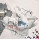 熱賣帆布鞋 2021秋季新款老爹運動鞋女韓版學生跑步百搭休閒潮板鞋帆布鞋 coco