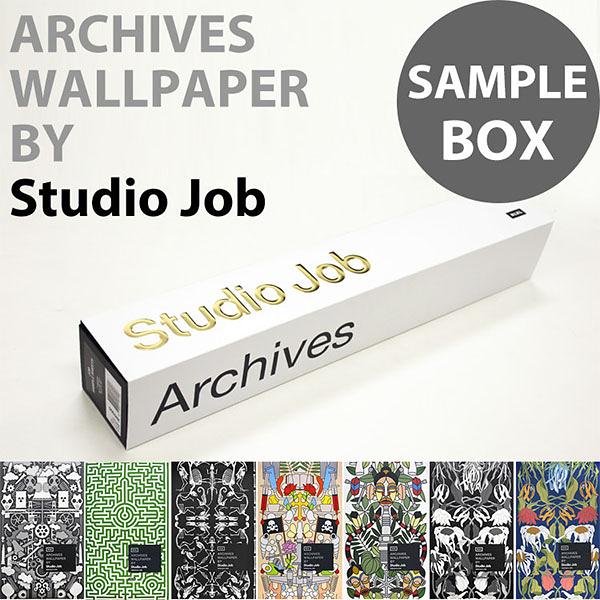 【進口牆紙】Archives Wallpaper by Studio Job【樣本套盒 7張/套】荷蘭 花草 幾何圖 繪畫