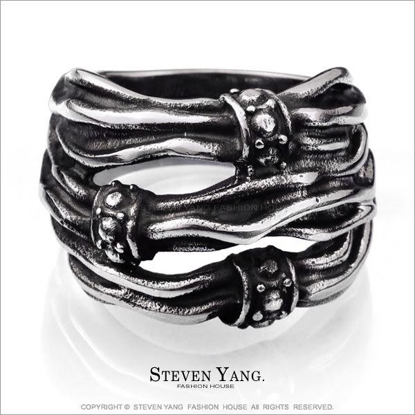 鋼戒指 西德鋼飾「束縛魔咒」送刻字 嘻哈個性潮流