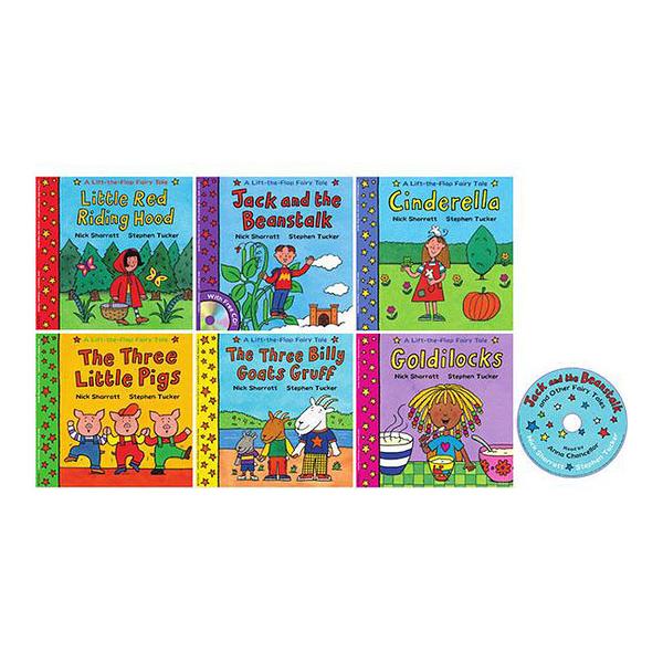 A Lift-The-Flap Fairy Tales Nick Sharratt 現代經典童話系列 翻翻套書組(六本書一CD)