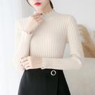 半高領毛衣女秋冬新款短款打底衫長袖修身百搭套頭上衣純色針織衫