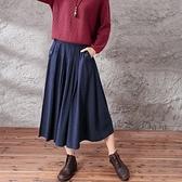 棉麻長裙-時髦自信韓版潮流半身女裙子6色73hr29[巴黎精品]