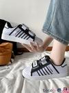 熱賣魔術貼鞋 貝殼頭韓版學生運動鞋女原宿可愛軟妹魔術貼鞋港風休閒透氣鞋 coco