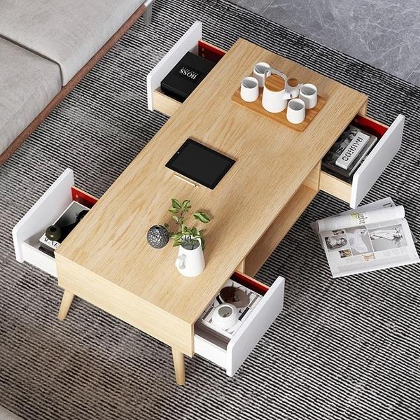 茶几 茶几桌簡約現代客廳家用小茶几輕奢茶台小戶型北歐茶桌小桌子臥室【快速出貨】