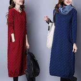 特殊點點布料顯瘦洋裝 獨具衣格