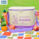 LIFECODE COOLER 飲料保冰袋(10L)-紫色圖紋