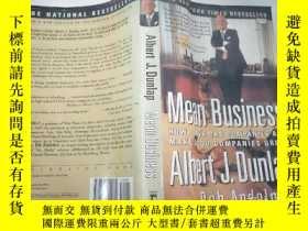 二手書博民逛書店Mean罕見Business albert j.dunlapY351232