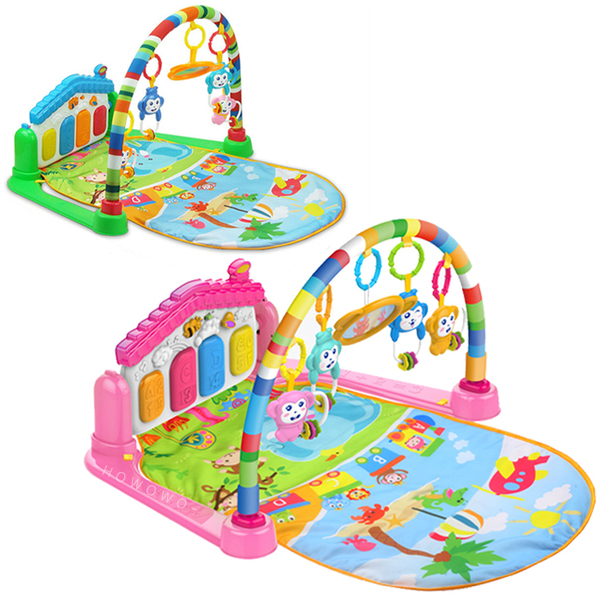 可愛動物鋼琴健身架 嬰兒腳踏鋼琴 踢踢琴 健力架 遊戲毯 6668 好娃娃